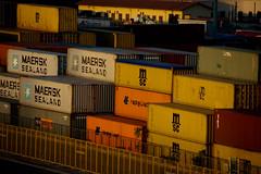 spegni la testa (Antonio_Trogu) Tags: italy port sunrise pier italia alba harbour transport quay porto wharf sicily palermo sicilia containers banchina antoniotrogu