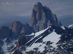 Fitz Roy from refugio Gorra Blanca
