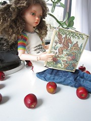 apples (Tatterpunk) Tags: reading kid doll lily wyeth apples ember bjd lonnie iplehouse