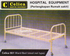 CELICA HOSPITAL EQUIPMENT 551 WARD BED ( STEEL NET TYPE ) (Celica Hospital Equipment) Tags: truck hospital bed cabinet furniture trolley interior side screen equipment oxygen laundry instrument cylinder medicine pan bedside cart urinal position fowler rumah floorlamp medicinecabinet sakit puri dressingtable peralatan gynaecology hospitalequipment examiningtable babycot bedsidecabinet mebel bowlstand perlengkapan utilitycart instrumenttable invalidchair infusionstand overbedtable deliverybed purifurniture instrumentcabinet peralatanrumahsakit steelbunkbed wardbed patienttransfercart hospitalfowlerpositionbed cabinetforbaby plastertrolley mediward treatmentchair bassinetbed oxygencylindertruck utilitytrolley dressingcart foodcarriage instrumentcarriage sidebedtable bowlstandsingle bowlstanddouble