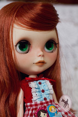 ~Prairie Posie for Mara~ (-Poison Girl-) Tags: girl closeup hair ginger doll long dolls waves redhead carrot blythe prairie poison custom wavy poisongirl posie scalp blythecustom prairieposie blytheprairieposie customprairieposie