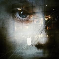 Rflections sur la misre (Paul..Andrews) Tags: street reflection eye window girl dark poster scotland dundee streetphotography dca lesmiserable iphone lesmis dundeecontemporaryarts iphoneography pdandrews iph100 isabelleallen