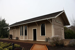 Restored former Oregonian Railway / Southern Pacific depot at Perrydale Oregon.  January 19 2013. (Dan Haneckow) Tags: narrowgauge southernpacific depots 2013 oregonianrailway