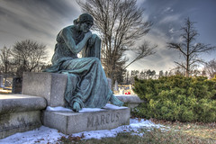 Marcus (Sam-Lehman) Tags: road county city cemetery graveyard statue md sitting maryland baltimore ridge human copper gravestone druid gravesite pikesville reisterstown