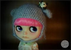 Nomad Pinku (SugarLuna/Ganbatte) Tags: pink cute hair for doll ooak blythe custom fa sugarluna