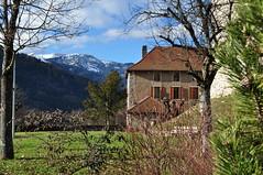 Logis du chteau de Faverges, Faverges, Haute-Savoie, Rhne-Alpes, France. (byb64) Tags: winter snow alps tower castle alpes landscape torre tour view hiver nieve paisaje neve v