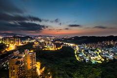 Evening Sky Fire  (Sharleen Chao) Tags: sunset urban horizontal skyline night canon landscape cityscape cloudy taiwan nopeople  taipei  afterglow capitalcity 1635mm cloudfire  canoneos5dmarkiii
