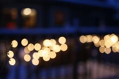 December (Casey Jean Hamilton) Tags: winter snow beautiful bokeh christmaslights porch