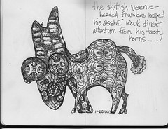 weenie frumble (fontaine2014) Tags: fantasy creature tangle zentangle frumble