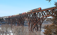 High Bridge Treat (view2share) Tags: winter minnesota wisconsin cn somerset february mn wi highbridge canadiannational stcroixriver 2013 stcroixcounty minneapolissub stcroixhighbridge february2013 february32013