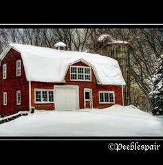 Sad Silo (Peeblespair) Tags: winter red snow barn rural silo vintagefindings tatot magicunicornverybest magicunicornmasterpiece shadowhousecreations galleryoffantasticshots peeblespair