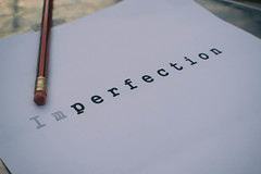 Imperfection #FlickrFriday (cuppyuppycake) Tags: pencil writing paper perfect flickr text friday a4 typing erase imperfection
