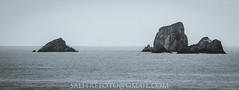 Rising (-Salitre fotografa-) Tags: sea coast rock cantabria cantabrico bnw blackandwhite horizon