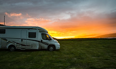 Sunset and the Campervan (marnieandandrew) Tags: iceland amazing landscape campervan sunset midnightsun