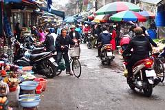 Haiphong - Street scene (sharko333) Tags: travel reise voyage asia asien asie vietnam haiphong people man woman street bicycle olympus em5