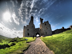 Lets Go Attack Dunstanburgh Castle (RS400) Tags: dunstanburgh castle buildings history wow cool wicked land sky clouds blue grass landscape landscapes path leading lines