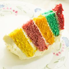 5 tier rainbow cioloured sponge cake (fstop186) Tags: 5tier five 5 tier coloured sponge cake icing frosting baking homemade butter