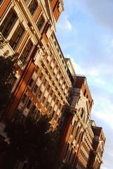DSC_6313 [ps] - Edifice d'Artifice (Anyhoo) Tags: anyhoo photobyanyhoo holloway london england uk lowsun urban red brick manorgardens masonry stone facade faade stonework