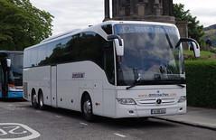 DM Tours of Clontibret, Co. Monaghan Mercedes Tourismo 161-MN-1040, Edinburgh 15/8/16 (andyflyer) Tags: dmtours clontibret comonaghan mercedes tourismo 161mn1040 dmtcoaches coach bus transport
