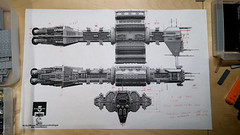 Omega Destroyer WIP 1: Plans (Rphilo004) Tags: lego shiptember 2016 omega class destroyer babylon 5