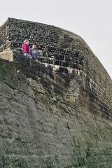 19A_0315 (craylton) Tags: boy girl brighton beach doughnut groyne donut stone wall tall fall basketball cliff drop danger aaaaah