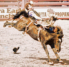 RIDE 'EM COWBOY! (Irene2727) Tags: sonoita arizona rodeo bronco cowboy horse hat buckingbronco sport outside