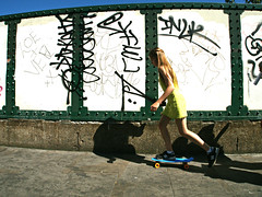 Skater Girl (Becky Frances) Tags: bricklane beckyfrances city candid colour color england eastlondon eastend girl london light lensblr olympus streetphotography shoreditch socialdocumentary summer urban uk skater skateboard 2016