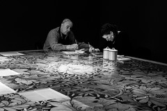Artists At Work (evans.photo) Tags: people artists painting tiles walthamstow williammorrisgallery