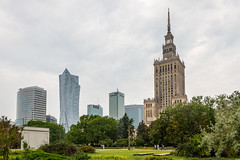 Warsaw Palace of Culture and Science (mikper) Tags: modern warsaw communist warszawa poland kulturpalatset western architecture park socialist soviet palaceofcultureandscience mazowieckie pl contrast