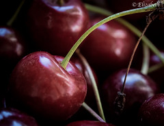 Cherries; the luckiest of all fruits, are never far from the ones they love (beth3974) Tags: cherries fruit