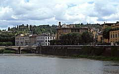 The Arno river and church of San Miniato al Monte in Florence (Carlo Raso) Tags: arno florence panorama italy