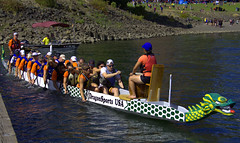 Dragon Boat Team (swong95765) Tags: race dragonboat team river water paddle competition crowds sport