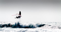 Lonely rider (stilsen) Tags: wind windsurfing water ocean waves sky highkey watersport watersports sea spain elmedano tenerife action sport high jump