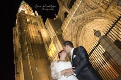 Post boda R&G (SHV Toledo) Tags: boda novios novia novio wedding justmarried sarahidalgo toledo noche nocturno catedral felicidad amor love iluminacin