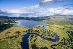 Loch Insh (James Shooter) Tags: august landscape scotland aerial cairngorms cairngormsnationalpark evening insh inshmarshes loch lochinsh nationalpark riverspey spey summer