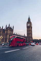 Bigben - London (nureco) Tags: sky red city sea sunset street water river travel blue night sun clouds tower tourism urban architecture cityscape bridge building london uk england town bus panoramic clock outdoors landmark parliament bigben discover kingdom westminster no person londonbus nopeople visitlondon toplondon