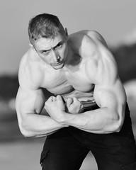 Bodybuilder (Pavels Dunaicevs) Tags: man fitness strong muscles body sport portrait evening summer sea beach bay jurmala latvia bodybuilding nikon nikkor d750 180mm 40 posing bodybuilder young baltic ocean coast irclv