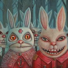 Surreal art by Peca (JamesGoblin) Tags: painting paint artwork surreal surrealism art spiritual mystical symbol symbolic mysticism illustration illustrate illustrations poster posters wallpaper wallpapers mystery rabbit rabbits mask masks