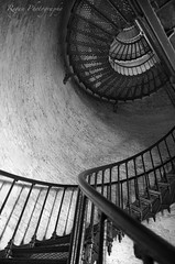 All The Way Up (Tim.Regan) Tags: currituck lighthouse north carolina black white stairs staircase spiral architecture