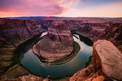 Horseshoe Bend (doublebarrelimages) Tags: cliff nikon coloradoriver river water sunset arizona horseshoebend