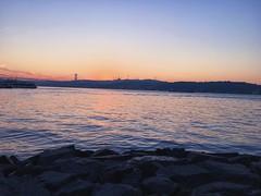 Istanbul at 6 AM  (rawpuffinheart) Tags: istanbul pier sahil boat hotel bosphorus beautiful skyline landscape marmara birds bridge stones besiktas travel outdoor iphone6s