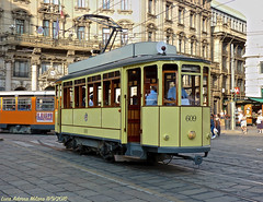 ATM 609 (Luca Adorna) Tags: atm atmmilano tram trammilano 609 atm609 storica vetturastorica cordusio piazzacordusio milano milan urban urbano trasportopubblico old vintage atm700 strasenbahn