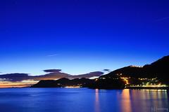 Manarola at Night (tomosang R32m) Tags: cinqueterre liguria laspezia manarola night yakei longexposure blue bluemoment twilight        amazing