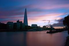 Sunset over the Thames (Sarah Marston) Tags: london sunset theshard thames riverthames river water clouds hmsbelfast syline sony alpha a65 september 2016