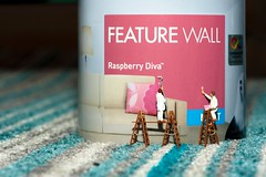 Feature Wall? (abnormally average) Tags: souppickle spickle littlepeople miniature ho hofigures scale painters decorate decor dulux feature wall strips fun ladder