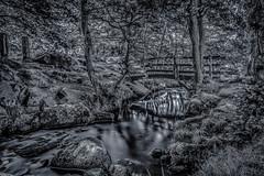 DSC_8234-HDR-Edit (Stuart Lilley Photography) Tags: hathersage england unitedkingdom gb padleygorge landscape landscapes wood woods forrest forrests bridge bridges water stream streams autumn autumnal bw black white