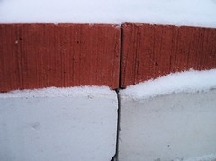 This Is How It Is ({f}Finn) Tags: winter red white snow cold day bricks stack minimalism linescurves vanagram