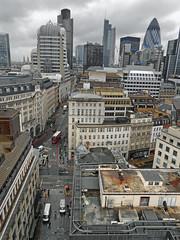 City of London (DncnH) Tags: city sky london skyline clouds view gherkin lloyds tower42 cityoflondon lloydsbuilding themonument gracechurchstreet ec3 eastcheap stmaryax herontower 20gracechurchstreet