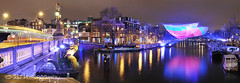 52 weeks of 2012, week 49; Amsterdam Light Festival (JdJ Photography (Aardewerk)) Tags: city bridge winter light sky snow cold holland reflection art wet water netherlands amsterdam night clouds river dark boats evening licht streetlight europa europe downtown driving nacht kunst centre ships sneeuw nederland wolken tram nat boten trail lit innercity brug avond lucht publictransport mokum centrum province houseboats stad amstel spoor noordholland donker spotlights koud openbaarvervoer reflectie benelux rivier schepen blauwbrug rijden randstad canalhouses binnenstad grachtenpanden provincie northholland woonboten verlicht amsterdamcentrum straatverlichting boulevardoflight amsterdamcitycentre amsterdamlightfestival