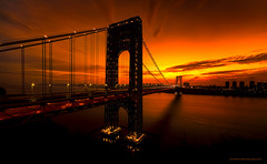 George Washington Bridge at dawn (Jason Pierce Photography) Tags: city nyc morning usa sun canon dawn newjersey twilight cityscape traffic manhattan cityscapes landmark hudsonriver scape hdr fortlee theheights newyorkcityphotography shabam december2012 5dmarkii mygearandme nyccityscapes newyorkcitycityscapes jasonpiercephotography gwbgeorgewashingtonbridgetwilight mosttraveledbridgeintheworld